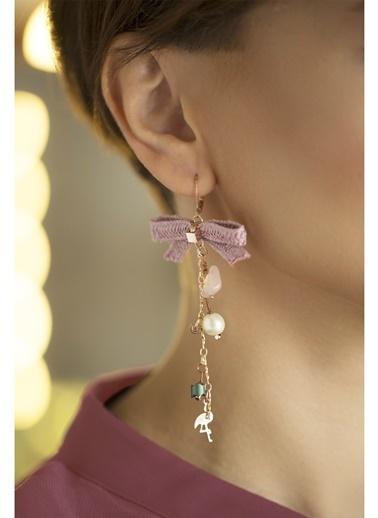 Amulette Jewel Küpe Pembe